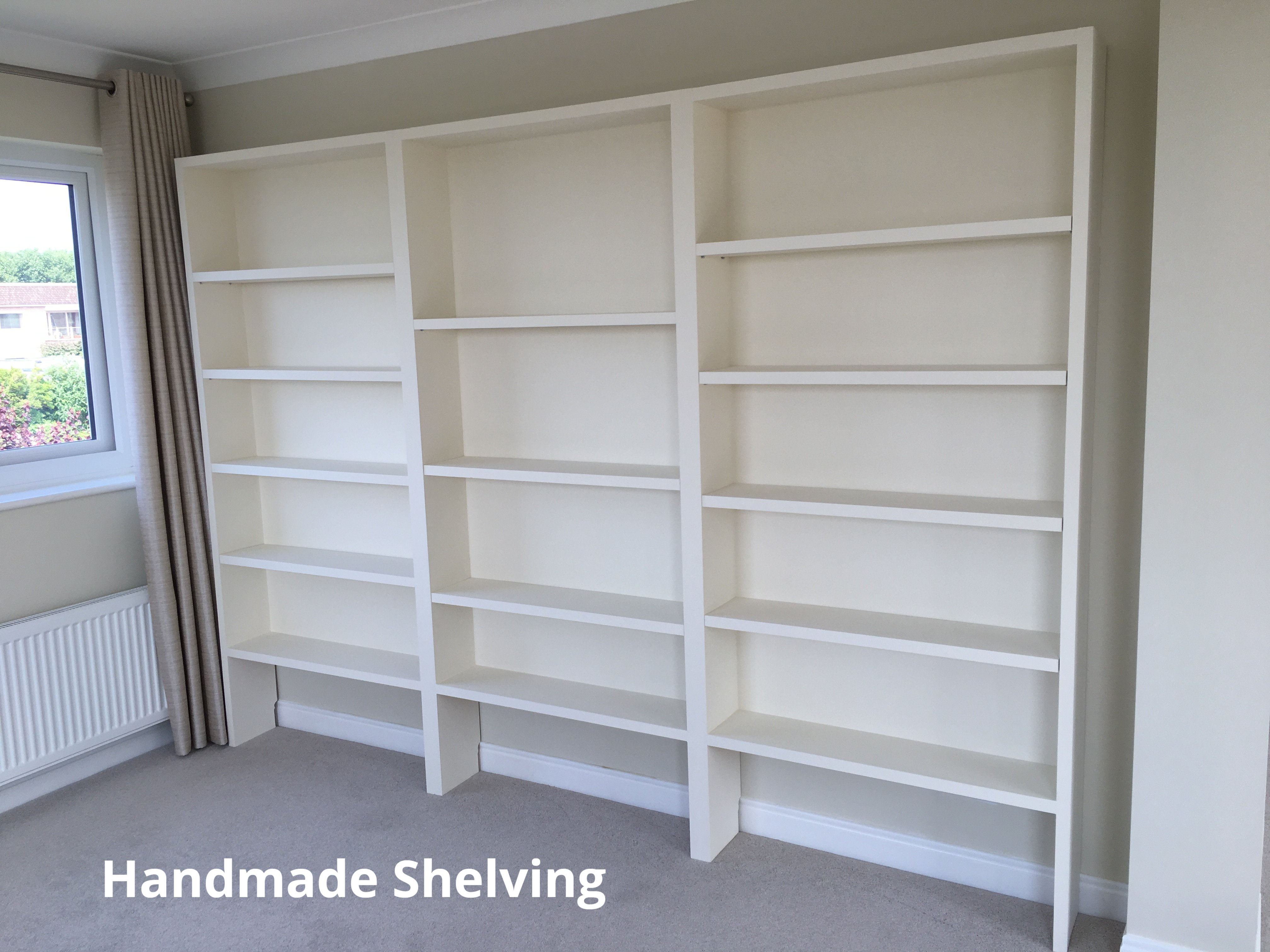 Book Shelves Hand Made in Wirral